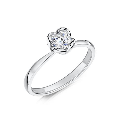 0.33 Carat GIA GVS Diamond solitaire 18ct White Gold Round brilliant Engagement Ring MWSS-1170/033